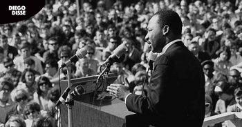 Marthin Luther King fazendo o discurso Eu tenho um sonho